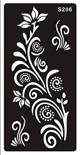 image relating to Henna Templates Printable called STENCILS TEMPLATES TATTOO Mehndi Stencill Henna Styles S206