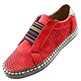 Women Fashion Slip On Sneakers Classic Sneakers Trainers Platform Skate Shoe Comfort Breathable Flat...