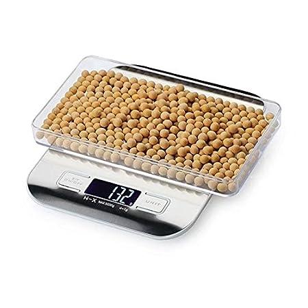Elegante Libra báscula digital de cocina de acero inoxidable multifunción alimentos escala, multifunción con rango de 0.04oz (1G) a 22lbs, ...