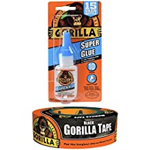Black Gorilla Tape 1.88 In. x 35 Yd., One Roll and Gorilla Super Glue, 15 g Bundle