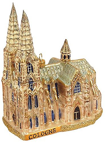 (Pinnacle Peak Trading Company Cologne Cathedral Germany Polish Glass Christmas Ornament Travel Decoration)