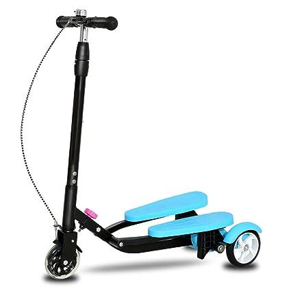 EOVL Patinete Scooter de 4 Ruedas Scooter de Oscilación ...