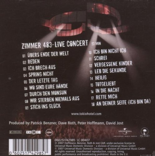 Zimmer 483 - Live in Europe by Universal International