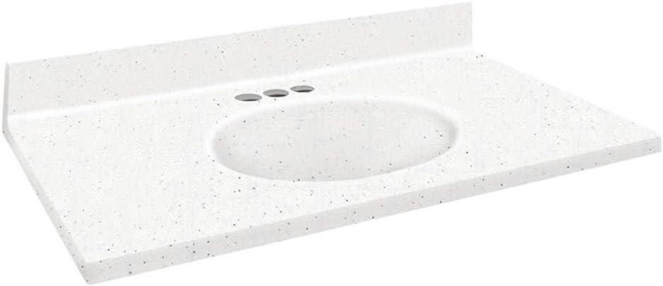 Solid Surface 49x19 Single Integral Bowl 4 Inch Standard Eased Edge Matrix Summit Bathroom Vanities Amazon Com