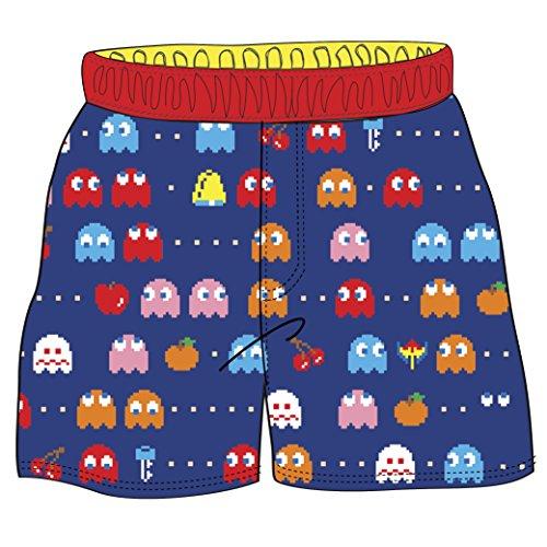 Pac-Man Toddler Boys' Ghost Swim Shorts, Blue, -