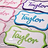 Name Patch Iron-on or Sew-on Applique Embroidered Patch for Uniforms, Backpacks, Christmas Stockings