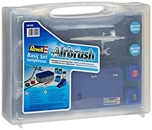 39199 Revell - Kit básico de aerógrafo con compresor (nuevo modelo 2011) [Importado de Alemania]