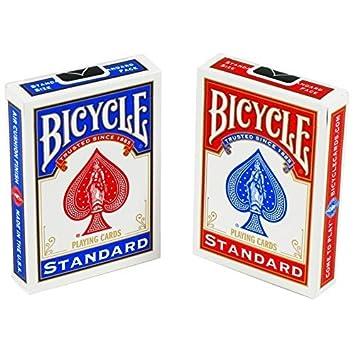 1 x 2 barajas de cartas Bicycle para jugar, 1 roja y 1 azul ...