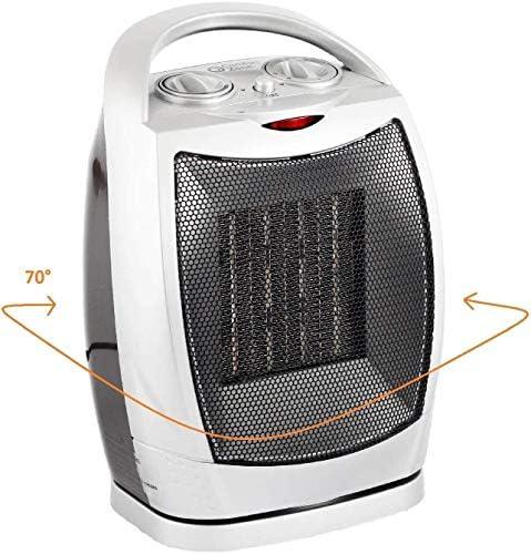 ZHWEI 調節可能なサーモスタット750W / 1500W上場静かでヒーターの個人電気ヒーター ポータブル