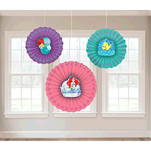 Paper Fan Decoration | Disney Ariel Dream Big Collection | Party Accessory for $<!--$6.21-->