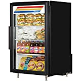 True GDM-07-HC~TSL01 Commercial Countertop Refrigerated Merchandiser, Black, 7 cu. ft.