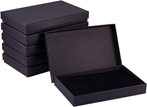 Kraft Paper Gift Display Retail Craft  Ring Black White Earrings 3x2x1 Teal 3.25x2.25x1 Cotton Filled Presentation Jewelry Boxes