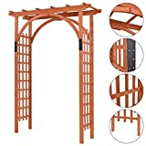 New Premium Outdoor Wooden Cedar Arbor Arch Pergola Trellis Wood Garden Yard Lattice