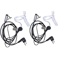 Lsgoodcare 2Pin Covert Acoustic Tube Earpiece Headset Earphone PTT MIC for Motorola COBRA Talkabout Walkie Talkie Two Way Radio,Pack of 2