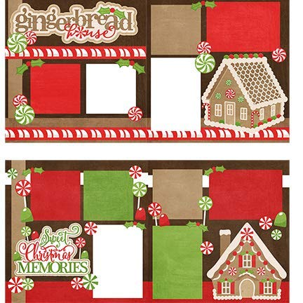 Two Printed Layouts - Gingerbread House & Sweet Christmas Memories - 2-2 Page 12x12 & 2 Duplicate 6