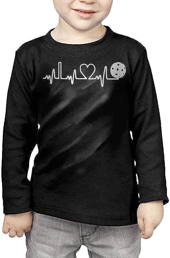 CERTONGCXTS Little Boys Pickleball Heartbeat ComfortSoft Long Sleeve Shirt
