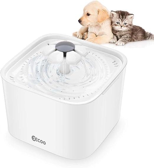 Fuente de Agua de 2L Silencioso Bebedero Automático para Perros y Gatos, Tiene 3 Modos Ajustables con Filtro de Carbón, Adecuado para Mascotas (Blanco): Amazon.es: Productos para mascotas