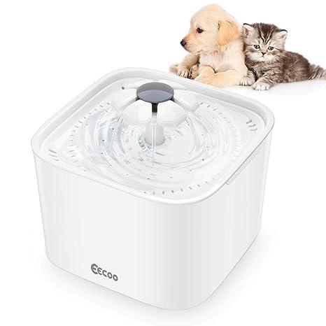 Fuente de Agua de 2L Silencioso Bebedero Automático para Perros y Gatos, Tiene 3 Modos