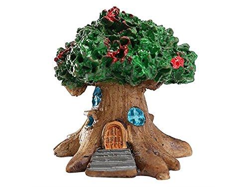 ornamenti Mini Fairy Tree House Giardino in miniatura Micro Landscape Ornament Craft Decor (Verde) Accessori in miniatura Godlife