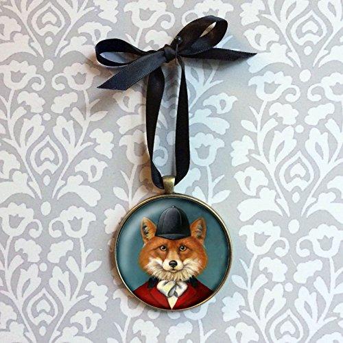 Fox Hunt Ornament - Fox Portrait Ornament - Portrait Miniature