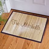 Personalized Family Name Bamboo Doormat, 21