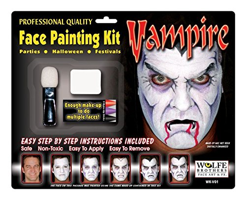 Morris Costume Vampire Makeup Kit Wolfe Bros (Vampiress Makeup)