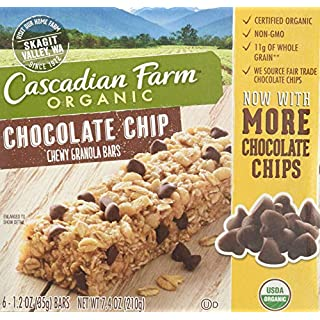 1 2 3 Cascadian Farm Bar Granola Chocochips Bar, 7.4 oz