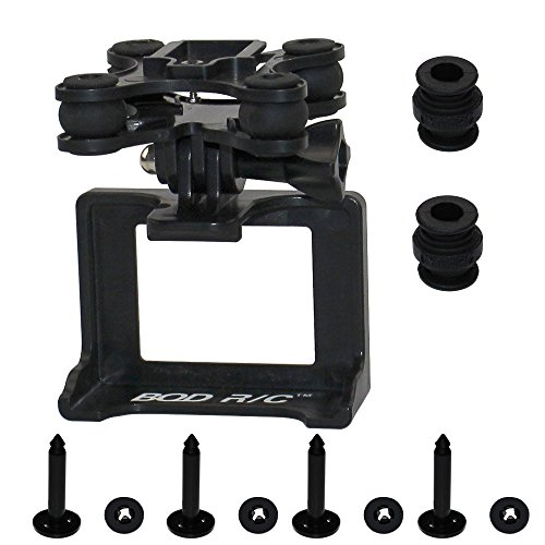 SAMLOO Black Action Camera Anti-shock Gimbal Mount Holder Frame Bracket for Syma X8 X8G X8HG X8C X8HC X8W X8HW RC Drone Venture Compatible with Gopro Hero Xiaoyi SJcam DBPower Geekpro Camera