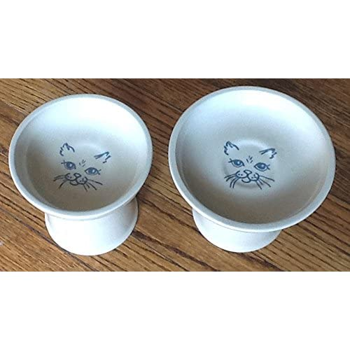 durable modeling Polish Pottery Raised Cat Dinnerware Set Wet Food Dish and Dry Food Dish (  sc 1 st  Dr. Clayton T. Cooke DDS & durable modeling Polish Pottery Raised Cat Dinnerware Set Wet Food ...