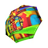 Artsadd Fashion Umbrella Popart Drops Church By Nico Bielow Foldable Sun Rain Travel Umbrella