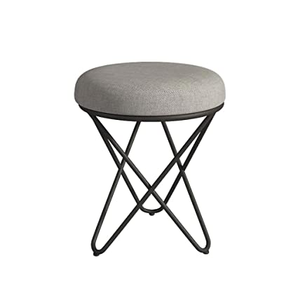 Living room stool modern minimalist bedroom small creative stool dressing  shoe stool fashion makeup leather assembly economical low stool