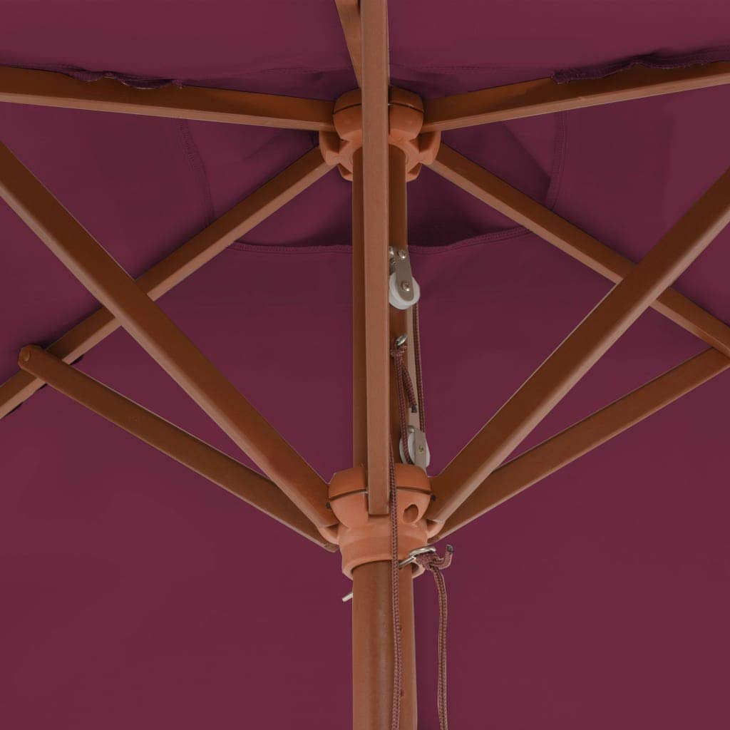 ghuanton Ombrellone da Esterni con Palo in Legno 150x200 cm Rosso bord/ò Casa e Giardino Prato e Giardino Vita allaperto Parasole