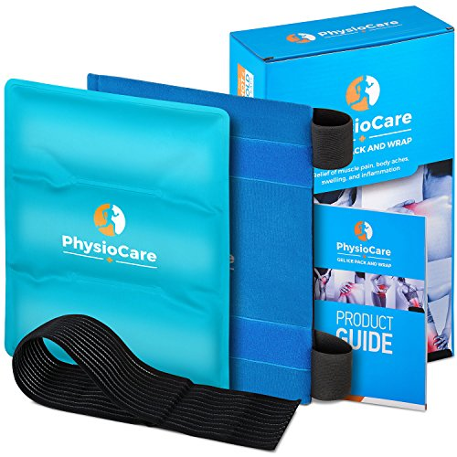 PhysioCare Large Flexible Gel Ice Pack & Wrap - Hot & Cold Therapy for Hip, Shoulder, Elbow, Back, Knee - Instant Pain Relief for Injuries, Recovery, Swelling, Aches, Bruises & ()