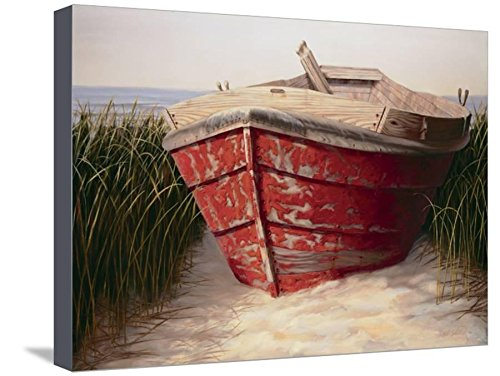 ArtEdge Red Boat by Karl Soderlund, Canvas Wall Art, Size 20W x 15H Karl Soderlund Red Boat
