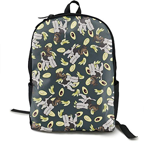 Adult Wire Fox Terrier Dog Avocado Funny Backpack School Bag Outdoor Casual Multipurpose Fantasy Laptop Travel Bags
