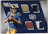 #5: Jared Goff 2018 Panini Absolute Tools of the Trade Quad Jersey Patch Football Relic Serial #11/60 Los Angeles Rams *See Description