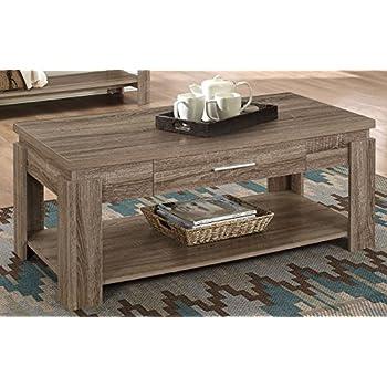 This Item Acme Furniture 83285 Xanti Coffee Table Dark Taupe