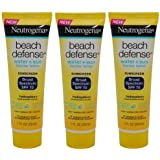 Neutrogena Beach Defense Sunscreen Lotion Broad Spectrum SPF 70, Travel Size (Pack of 3) 1 oz