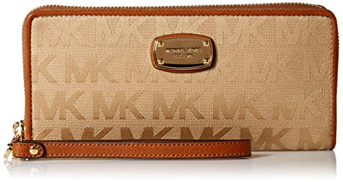 Michael Kors Jet Set Item Travel Continental Wallet Wristlet (Camel) by Michael Kors