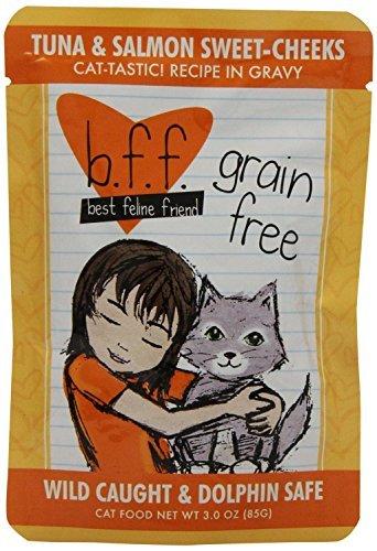 Best Feline Friend Tuna and Salmon Sweet Cheeks Cat Food 24x3 oz Pouches
