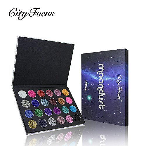 MEIQING Fashion 24 Colors Eyeshadow Palette Ultra Shimmer Pi