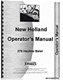 New Holland 270 Baler Operators Manual