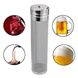 niceeshop(TM) Beer Dry Hopper Filter,Home Brewing Stainless Steel Micron Mesh Beer Filter Cartridge,Silver,7x29cm