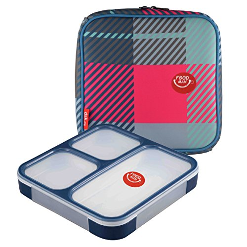 FOODMAN Thin lunch box 800ml with Cover(Japan impo