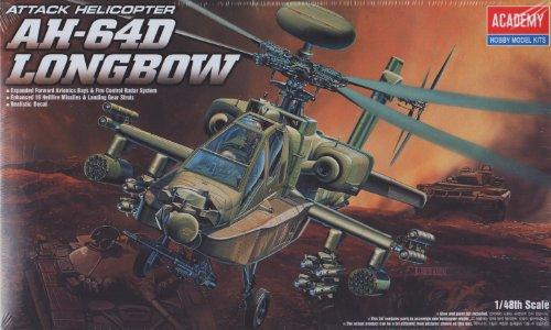 Academy 1/48 Ah-64d Longbow # 2125 - Apache Model Kit