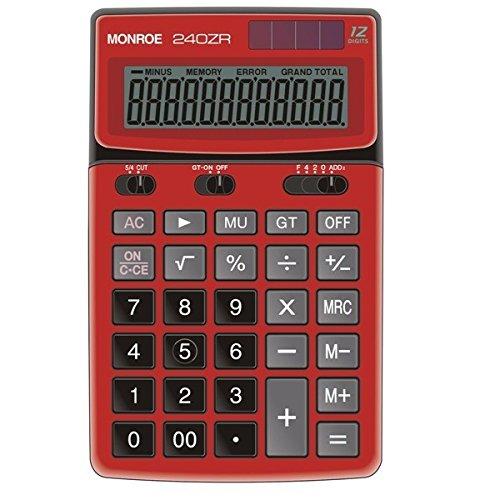 Monroe 240ZR 6.81''L x 4.17''W x 1.02''H 12 Digit Calculator