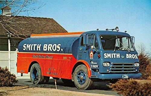 Taftville Connecticut Smith Bros Oil Service Truck Vintage Postcard J77329