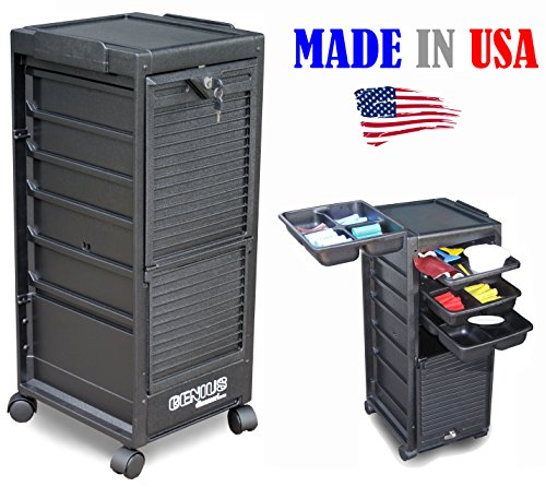 Kd Utility Cart (G3-KD Salon Rollabout Trolley Cart Lockable Made in USA by Dina Meri)