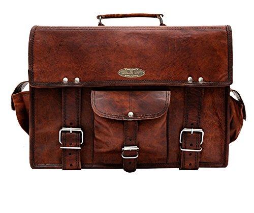 Handmade_World leather messenger bags for men women mens briefcase laptop bag best computer shoulder satchel school distressed bag