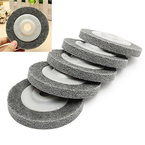 (5pcs 4 Inch Fiber Polishing Sanding Discs Set 100mm Metal Wood Buffing Wheel Pads)